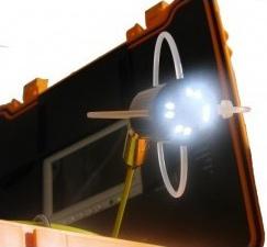 Cámara con sondas para detección de arquetas